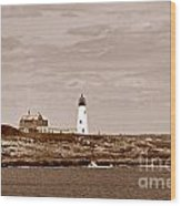 Wood Island Lighthouse Wood Print