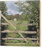 Wooden Gate Sussex Uk Wood Print