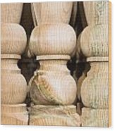 Wooden Posts Wood Print