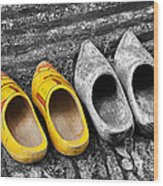 Wooden Shoes Wood Print