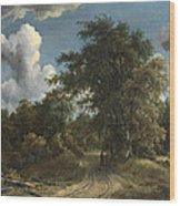 Woodland Road Wood Print