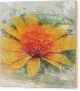 Woodland Sunflower Wood Print