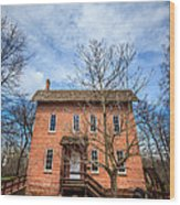 Wood's Grist Mill In Deep River County Park Wood Print
