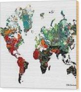 World Atlas  Wood Print