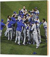 World Series - Kansas City Royals V New Wood Print