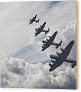 World War Two British Vintage Flight Formation Wood Print by Matthew Gibson