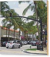 Worth Ave Palm Beach Fl Facing West Wood Print