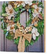 Wreath 24 Wood Print