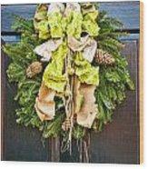 Wreath 30 Wood Print