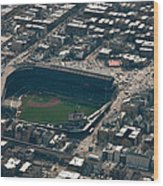 Wrigley Field From The Air Wood Print