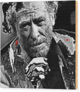 Writer Charles Bukowski On Tv Show Apostrophes In September 1978-2013 Wood Print