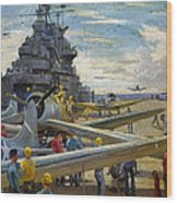 Wwii: Aircraft Carrier Wood Print