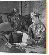 Wwii: Tuskegee Airmen, 1945 Wood Print