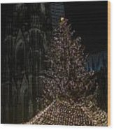 Xmas In Cologne Wood Print