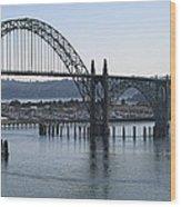 Yaquina Bay Bridge - Newport Oregon Wood Print by Daniel Hagerman