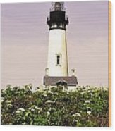 Yaquina Lighthouse In May Wood Print