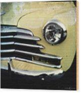 Yellow Chevrolet Wood Print