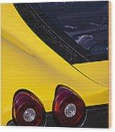 Yellow F430 Wood Print