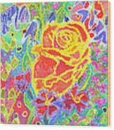 Yellow Rose Bouquet Wood Print