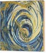 Yellow Spiral Wood Print