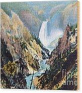 Yellowstone Canyon Yellowstone Np Wood Print