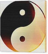 Yin And Yang 3 Wood Print