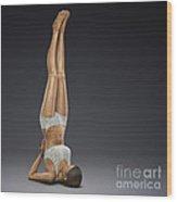 Yoga Shoulderstand Pose Wood Print