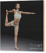 Yoga The Dancers Pose Wood Print