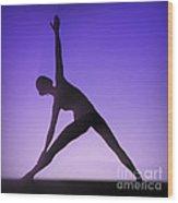Yoga Triangle Pose Wood Print