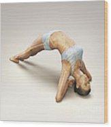 Yoga Upward Facing Two-foot Staff Pose Wood Print