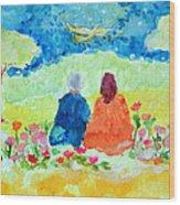 Yogananda And Swami Kriyananda Wood Print