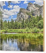 Yosemite Merced River Rafting Wood Print