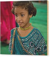 Young Dancer At The Navratri Festival Wood Print