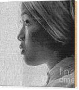 Young Woman In Turban Wood Print