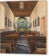 Ysleta Mission Of El Paso Texas Wood Print