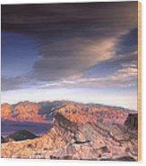 Zabriskie Point Death Valley Wood Print