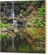 Zen Garden Wood Print