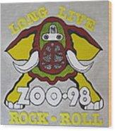 Zoo 98 Elephant Yellow Wood Print