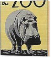 Zoo Poster C1936 Wood Print