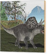 Zuniceratops Dinosaur Wood Print