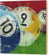 10 9 8 Billiards Abstract Wood Print