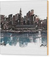 Boston Skyline Wood Print