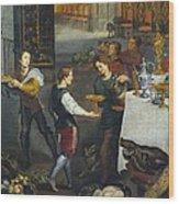 Breugel, Jan, The Elder, Called Velvet Wood Print