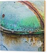Colored Rust Metal Wood Print