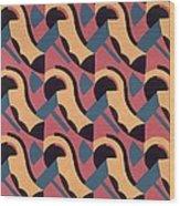 Design From Nouvelles Compositions Decoratives Wood Print