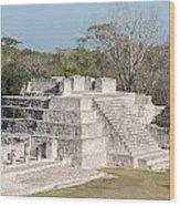 Edzna In Campeche Wood Print