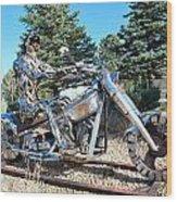 Freedom Biker. Wood Print
