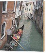 Gondola. Venice Wood Print