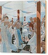 La Vie Parisienne  1931 1930s France Cc Wood Print