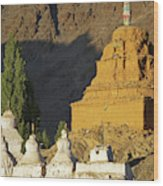 Ladakh, India Religious Structures Wood Print